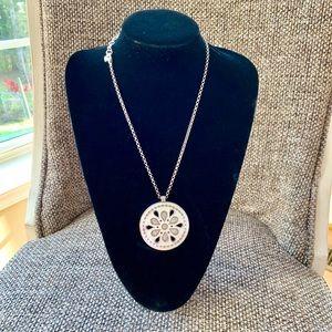 Brighton Necklace, Silver Chain & Medallion
